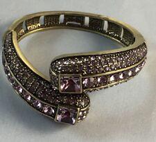 "HEIDI DAUS ""Infinite Magic"" ""AUBERGINE"" Crystal-Accented Bangle Bracelet S/M"