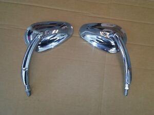 Chrome Mirrors (Pair) for Honda/Kawasaki/Suzuki Cruisers/Bobbers/Choppers OU1058