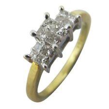 18ct Yellow & White Gold 0.25ct Diamonds Three Stone Trilogy Engagement Ring