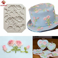 3D Rose Flower Silicone Fondant Cake Mould Chocolate Baking Sugarcraft Mold 1Pc