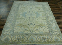 8'x10' New Antiqued hand knotted wool Turkish Oushak Oriental area rug