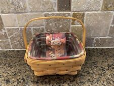 Longaberger 2001 Small Berry Basket With Protector & Liner