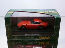 EBBRO #105 TOYOTA 2000 GT - RED  1:43  - EXCELLENT IN BOX