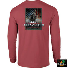 NEW DRAKE WATERFOWL SYSTEMS CHARGING PATRIOT LOGO L/S T-SHIRT TEE