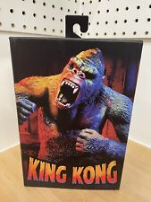KING KONG Ultimate Kong illustrated 7 inch figure NECA Dinged box