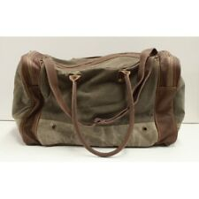 Canvas and Leather Unisex Duffel Bag