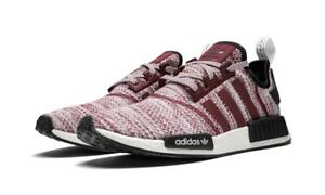 Size 8.5 2018 Adidas NMD R1 Burgundy Boost D97230 Primeknit Low BRAND NEW Rare