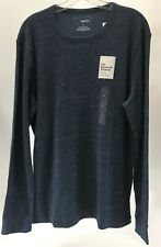 Sonoma Mens Long Sleeve Supersoft Thermal Heather Color Navy Blue Large Nwt #