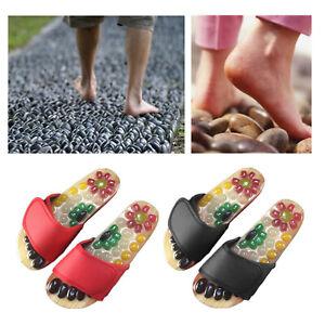 Akupressur Massage Hausschuhe mit Natürlichen Stein Fuß Massage Akupunktur