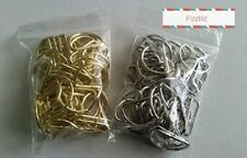 1 inch 25mm D Rings x 50  - brass or nickle  colour metal