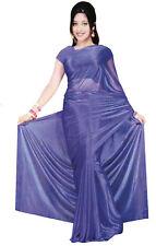 Trendofindia blau Bollywood Sari Viscose