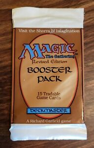 Magic the Gathering Sealed Unopened Booster Pack - Revised Edition