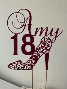 Handmade Personalised Shoe Cake Topper - Made to Order