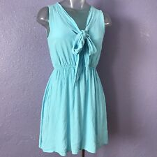 ASOS Sky Blue Sleeveless Sailor Tie Front Casual Mini Dress 4 CUTE!!