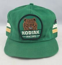 Vintage 80s Kodiak Racing Green 3 Stripe Snapback Mesh Trucker Hat Cap KProducts