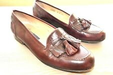 Mens Shoes BRAGANO Tassel Loafer Made In ITALY Cole Haan Burgundy Size 8