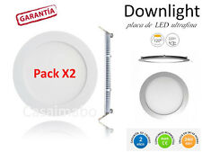 Pack2 Downlight LED SLIM Redondo Extraplano 20W,Interior,Luz Blanca Techo 1500LM