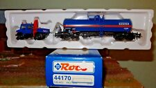 ROCO 44170 Carro Cisterna WACKER livrea blu, DB e camion adibito anche su rotaia