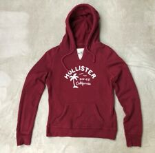 Hollister California, Womens classic pullover hoodie, Burgundy, size L