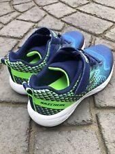 Sketchers Go Run Boys Shoes sz US 1.  Blue/Lime. Very Slightly Used.