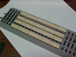 Railroad Crossing for Lionel O 3-rail Straight FasTrack system, engraved wood.