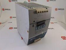 Emerson SDN 10-24-100P SOLA Power Supply 115/230VAC 5.0/2.0A 50/60Hz 24VDC 10A