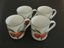 Set of Four (4) Evesham Vale Royal Worcester Porcelain Coffee Mug, England c1986