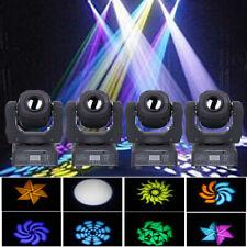 4Pcs 80W Moving Head Stage Lighting Rgbw Gobos Beam Led Light Dmx Disco Party Dj