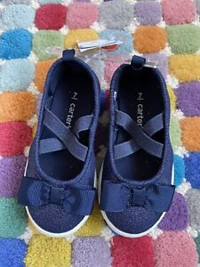 NEW Carters Toddler Girls Bryony Denim Mary Jane Slip On Shoes Sneakers Size 7