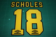 Manchester United 94/97 #18 SCHOLES 3rd AwayKit Nameset Printing