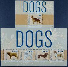 St. Vincent 2012 Hunde Dogs Pets Haustiere Dt. Schäferhund 7105-08 + Bl.728 MNH