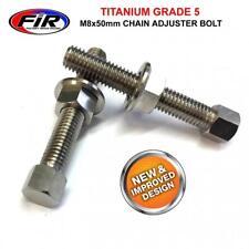 Kawasaki KX 125 250 500 250F 450F Titanium Chain Adjuster Nuts & Bolts M8x50MM