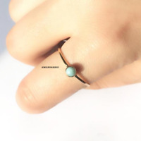 Larimar Ring Solid 925 Sterling Silver Anxiety Ring Handmade Ring mbnb0946