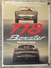 Porsche RS-60 Spyder & Boxster Showroom Advertising Sales Poster RARE!! Awesome