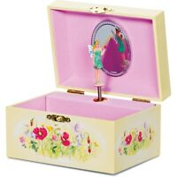 GIRLS PINK ROTATING FAIRY WOODEN JEWELLERY MUSICAL MUSIC BOX 08373