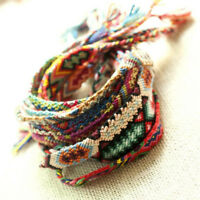 Nepalese Friendship Handmade Braided Bracelet Knot Rope Men Women Multi Color
