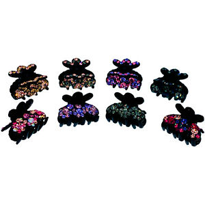 Handmade Small Acrylic Hair Clip Claw Jaw Hairpin made with Swarovski Crystal A5