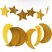 Wall Hanging Banner Paper Star Moon Garlands Christmas Tree Wedding Party D