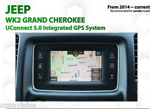 "Jeep Grand Cherokee 4x2 Laredo 5"" Screen GPS Navigation Upgrade UConnect 5.0"