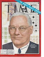 FREDERICK R. KAPPEL, CHAIRMAN of AT&T, SIGNED MAGAZINE COVER / AUTOGRAPH