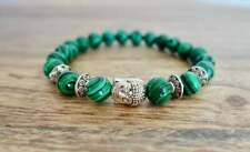 Malachite Stone 8mm Beads Buddha Bracelet Collection Meditation Natural Gemstone