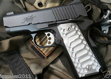 "1911 Compact Officer Grips Colt kimber Defender Brushed ""Cobra """