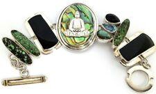 Echo Of The Dreamer 925 Sterling Silver Turquoise & Gemstone Bracelet. #VB36