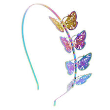 Claire's Girl's Anodized Butterfly Headband Rainbow