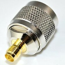 N Type Male Plug to SMA Female Jack Straight RF Coaxial Adapter Connector Coppe