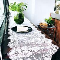Wedding Table Runner Crochet Hollow Lace Polyester Desktop Vintage Cover Decor D