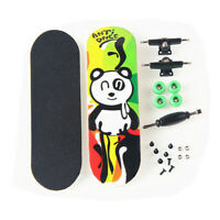 Panda Pattern Wooden Fingerboard Finger Skate Board Grit Foam Tape Maple Wood