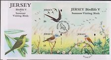 GB JERSEY 2011 Birdlife Series 5/Summer Visiting Birds Mini-Sheet SG MS1591 FDC