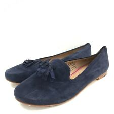 Joules Shoes UK 4 Navy Blue Suede Leather Tassel Loafer Flats Smart Work 291107