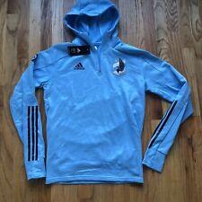 NWT Men's Adidas Minnesota United FC MNUFC Loons Blue Travel Warm Up Jacket Sz M